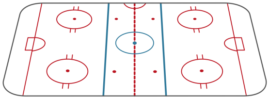 Sport-Hockey-Ice-hockey-field-view-from-long-side-Template